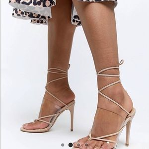 Missguided brand new Clear shoes